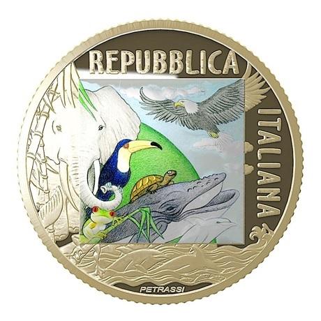 (EUR10.ComBU&BE.2020.500.BE.48-2MS10-20P006) 5 euro Italie 2020 BE - Tigre Avers