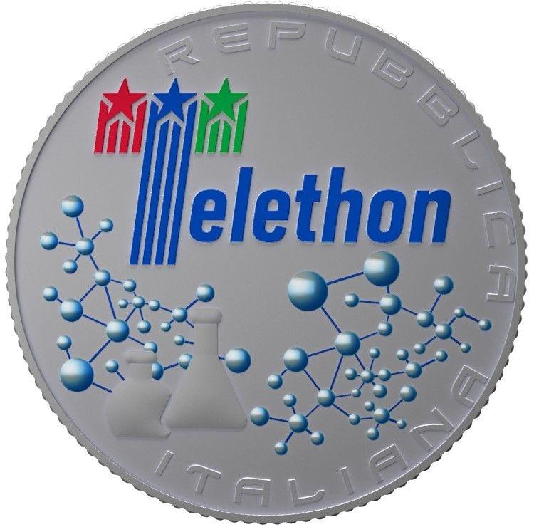 (EUR10.ComBU&BE.2020.500.BU.COM1) 5 euro Italy 2020 BU silver - Telethon Obverse (zoom)