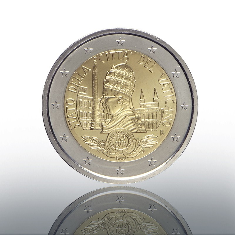 (EUR19.ComBU&BE.2019.CN1486) 2 euro Vatican 2019 BU – Founding of Vatican City State Obverse (zoom)
