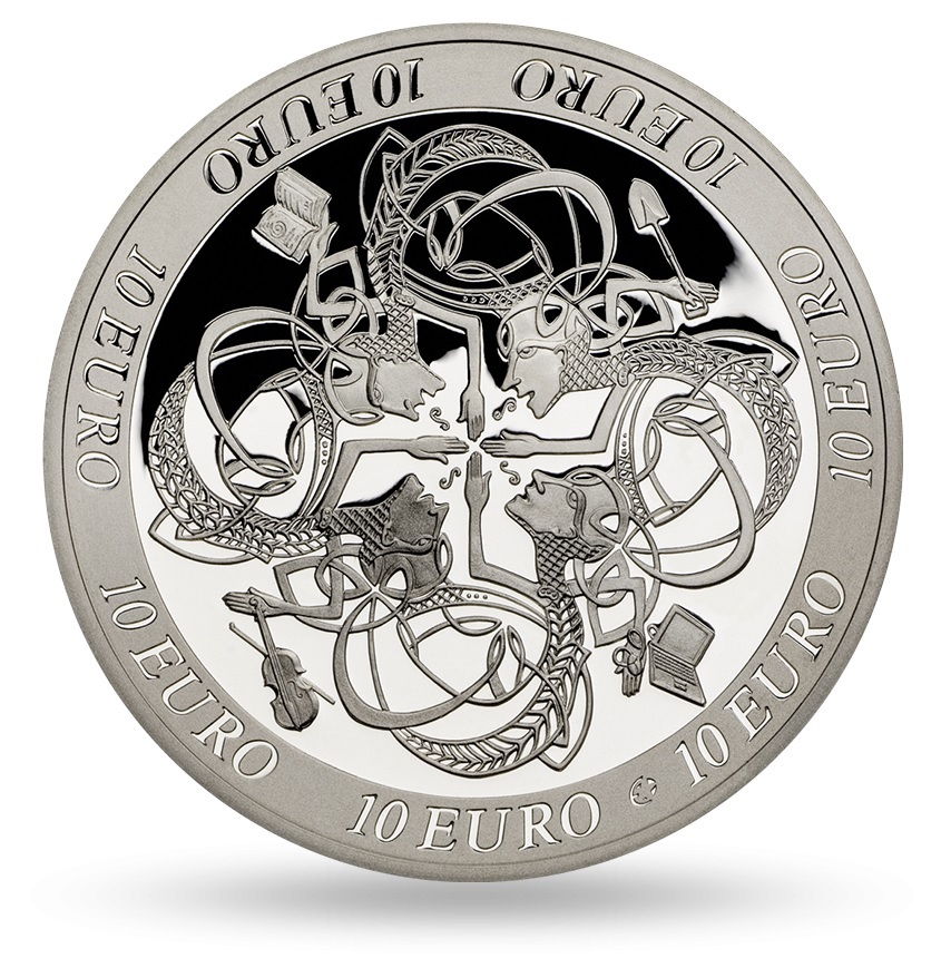 10 euro Ireland 2007 Proof silver - Ireland's influence on European Celtic culture Reverse (zoom)