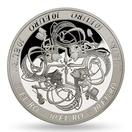 10 euro Irlande 2007 argent BE - Influence sur la culture européenne celtique Revers
