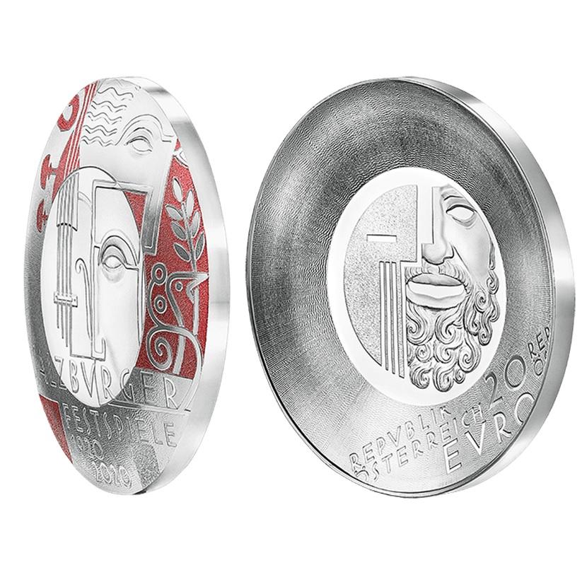 (EUR01.ComBU&BE.2020.2000.BE.24598) 20 euro Austria 2020 Proof silver - Salzburg Festival (zoom)