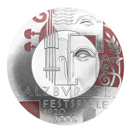 (EUR01.ComBU&BE.2020.2000.BE.24598) 20 euro Autriche 2020 argent BE - Festival de Salzbourg Revers