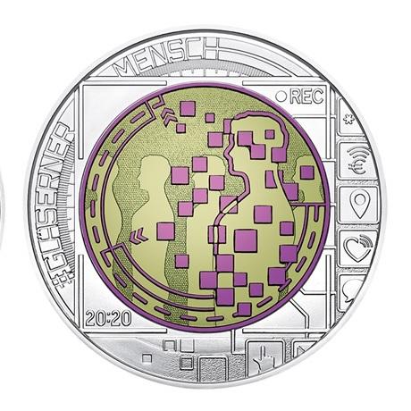 (EUR01.ComBU&BE.2020.2500.BU.24464) 25 euro Autriche 2020 argent et niobium BU - Mégadonnées Revers