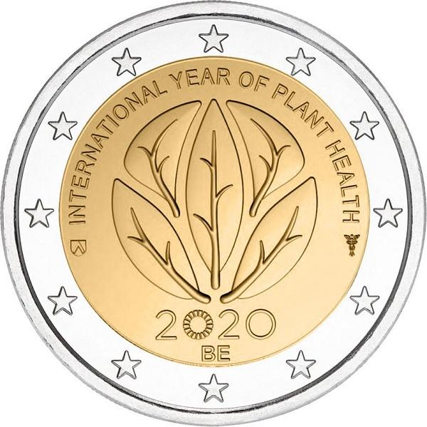 (EUR02.200.2020.COM1) 2 euro Belgium 2020 - International Year of plant health (zoom)