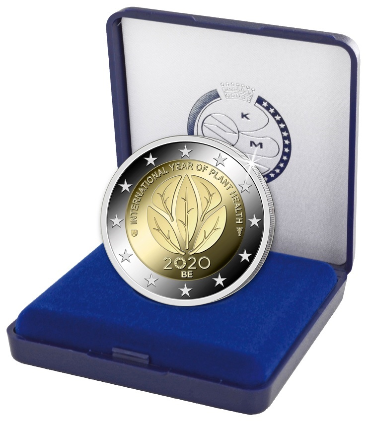 (EUR02.ComBU&BE.2020.200.BE.COM1) 2 euro Belgium 2020 Proof - International Year of plant health (zoom)