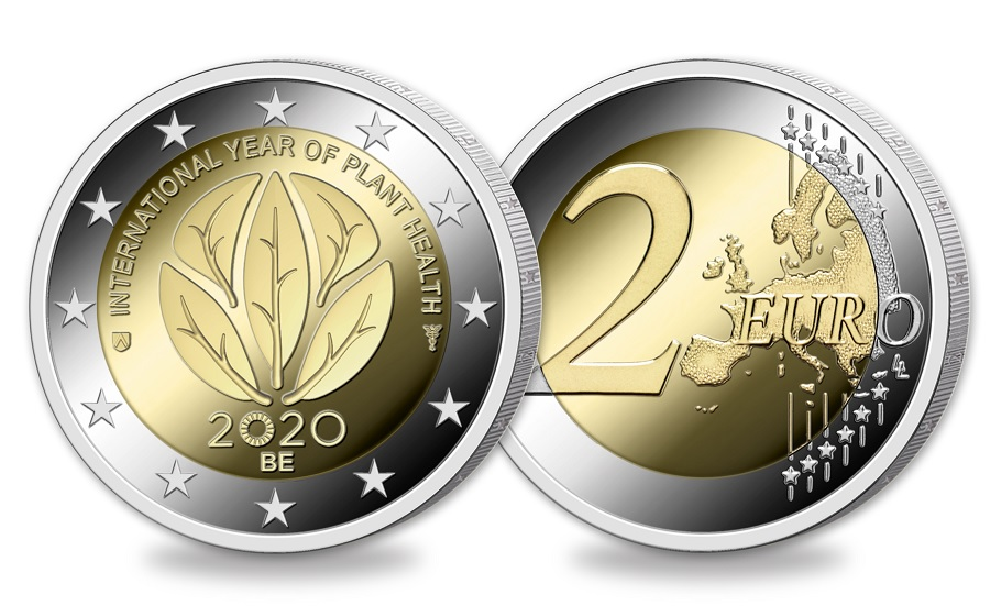 (EUR02.ComBU&BE.2020.200.BU.COM1) 2 euro Belgium 2020 BU - International Year of plant health (zoom)