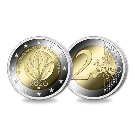 (EUR02.ComBU&BE.2020.200.BU.COM1) 2 euro commémorative Belgique 2020 BU - Santé des plantes