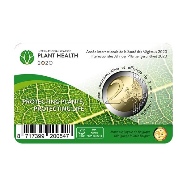 (EUR02.ComBU&BE.2020.200.BU.COM1.1) 2 euro Belgium 2020 BU - International Year of plant health Back (zoom)