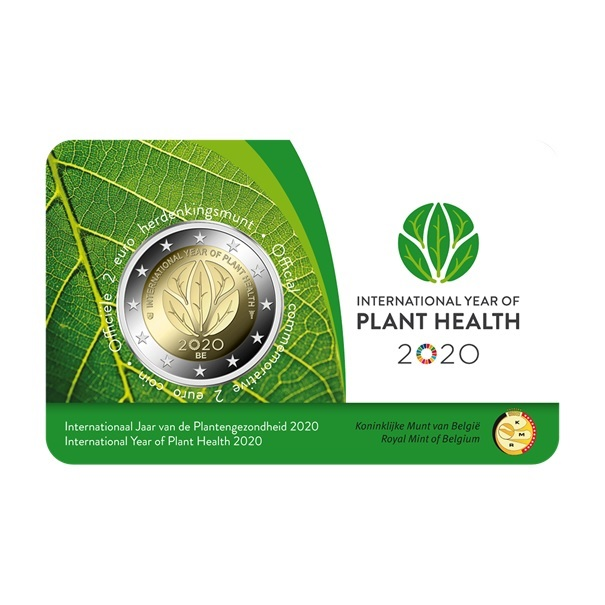 (EUR02.ComBU&BE.2020.200.BU.COM1.1) 2 euro Belgium 2020 BU - International Year of plant health Front (zoom)