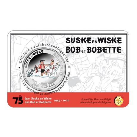 (EUR02.ComBU&BE.2020.500.BU.COM1.1) 5 euro Belgique 2020 BU - Bob et Bobette (colorisée) Recto
