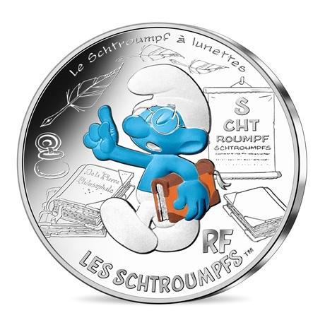 (EUR07.1000.2020.10041345500005) 10 euro France 2020 argent - Schtroumpf à lunettes Avers