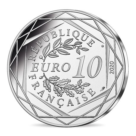 (EUR07.1000.2020.10041345500005) 10 euro France 2020 argent - Schtroumpf à lunettes Revers