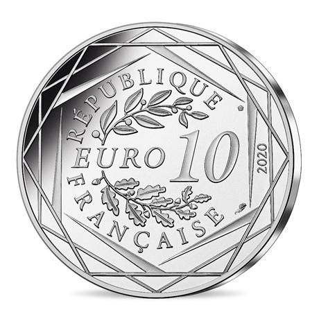 (EUR07.1000.2020.10041345540005) 10 euro France 2020 argent - Schtroumpf docteur Revers