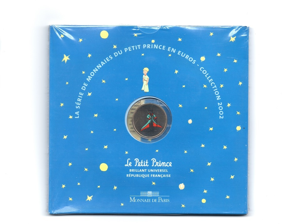 (EUR07.CofBU&FDC.2002.Cof-BU.1.000000001) BU coin set France 2002 - The Little Prince Front (zoom)