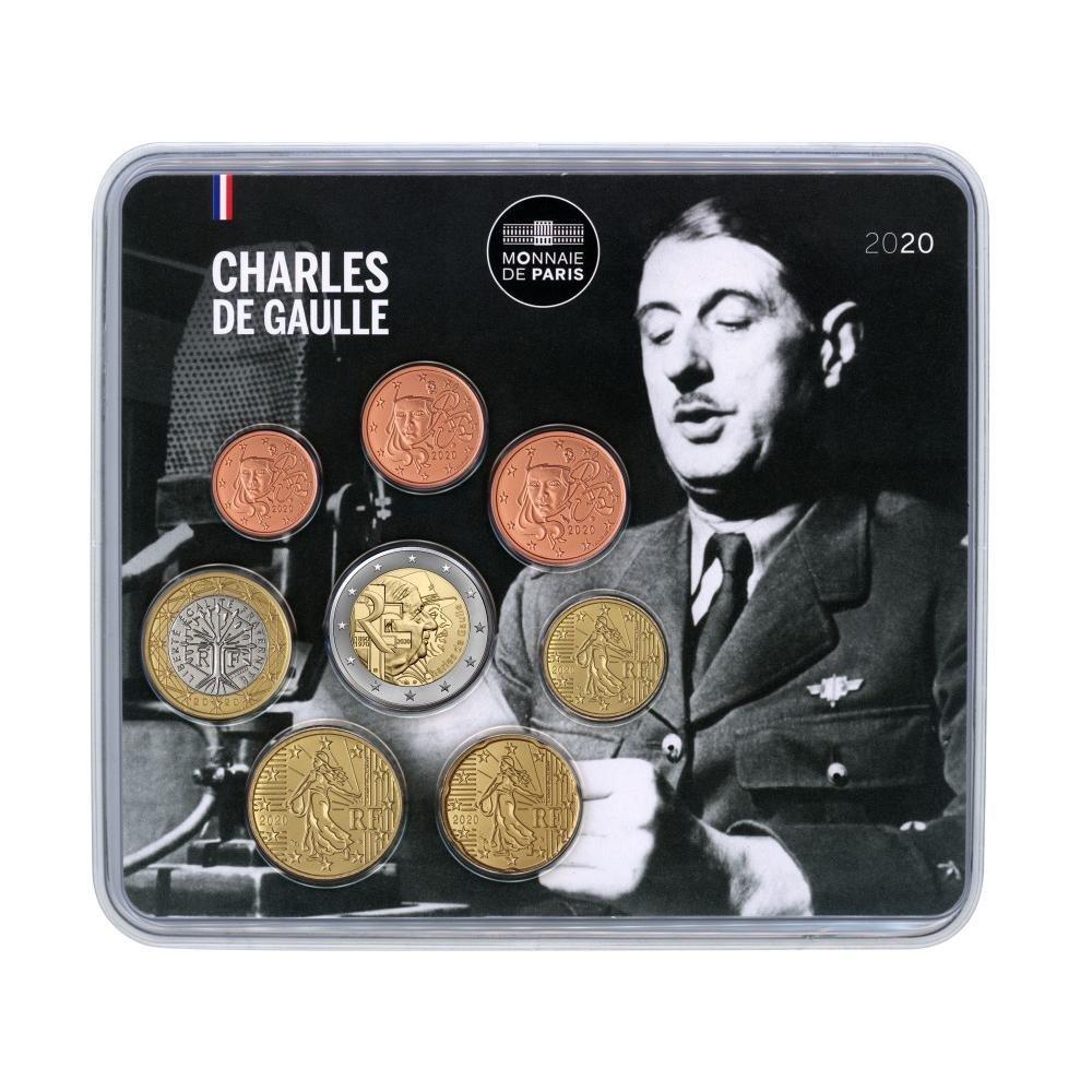 (EUR07.CofBU&FDC.2020.M-S.10041348600000) BU mini-set France 2020 - General de Gaulle Front (zoom)