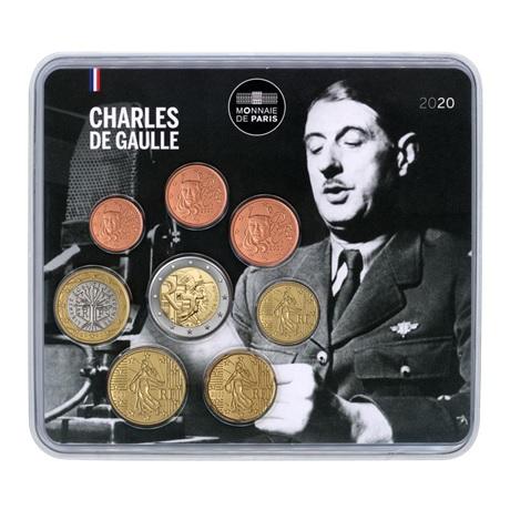 (EUR07.CofBU&FDC.2020.M-S.10041348600000) Mini-set BU France 2020 - Charles de Gaulle Recto