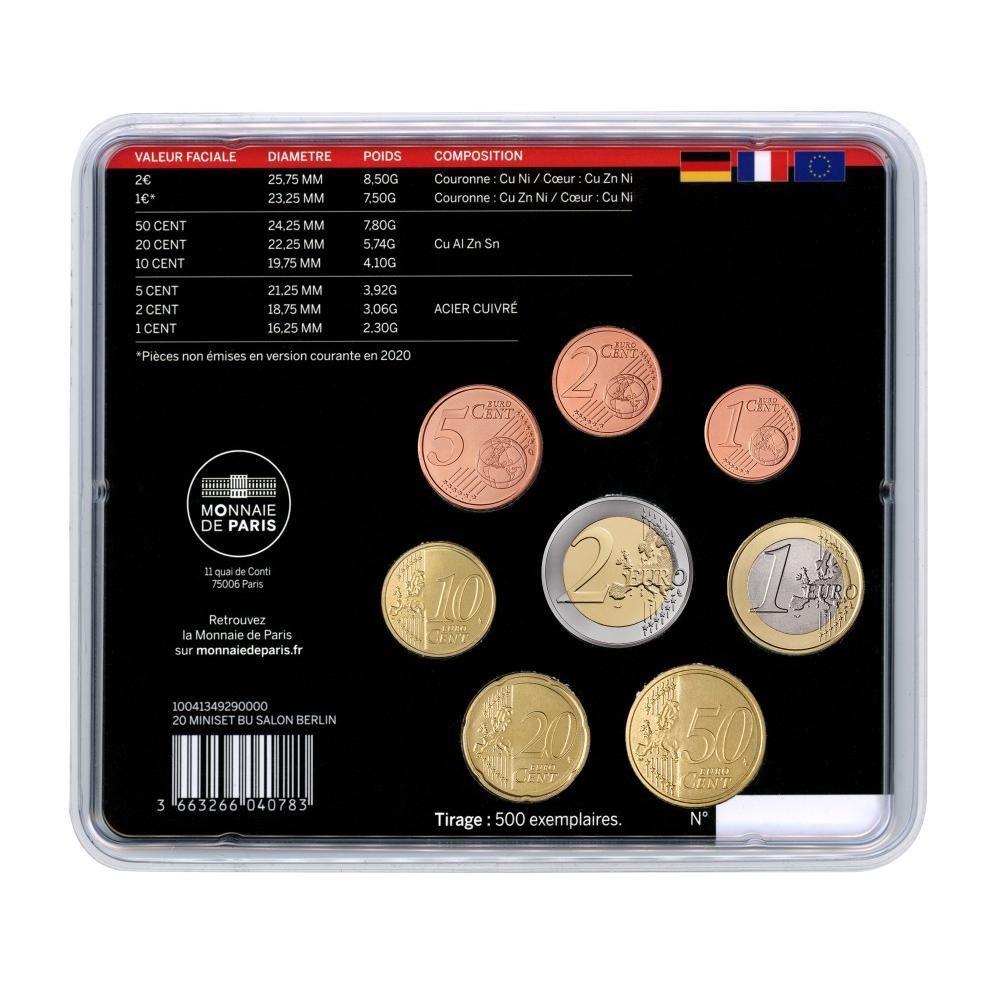 (EUR07.CofBU&FDC.2020.M-S.10041349290000) BU mini-set France 2020 - Berlin World Money Fair Back (zoom)