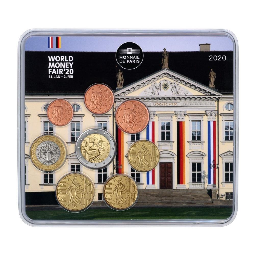 (EUR07.CofBU&FDC.2020.M-S.10041349290000) BU mini-set France 2020 - Berlin World Money Fair Front (zoom)