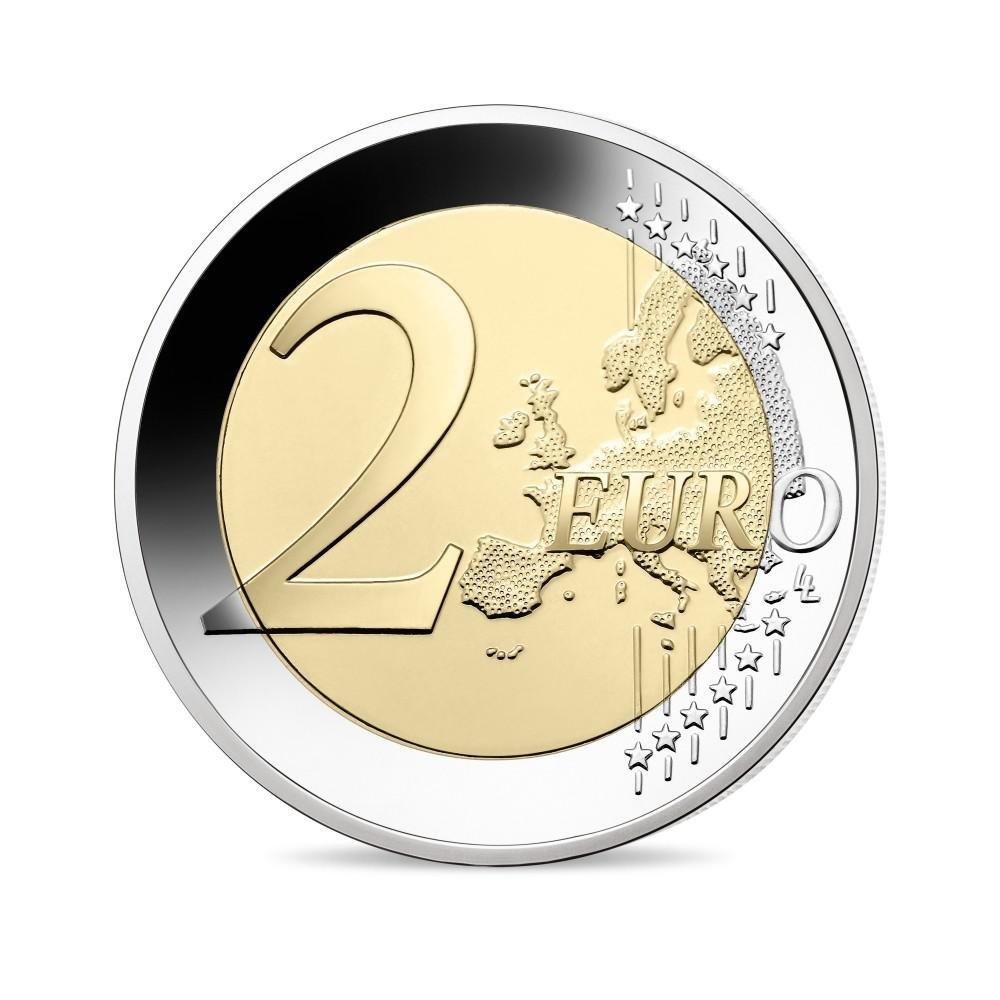 (EUR07.ComBU&BE.2020.200.BE.10041345060000) 2 euro France 2020 Proof - General de Gaulle Reverse (zoom)