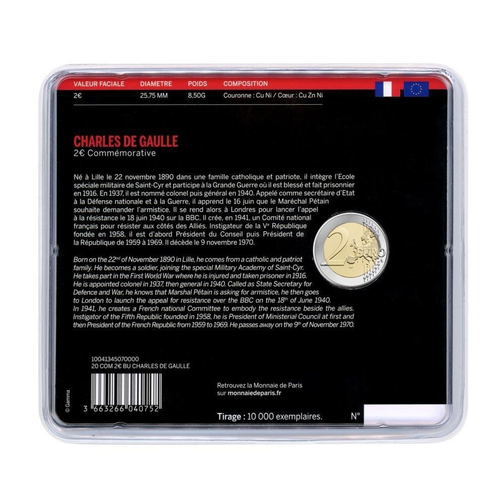 (EUR07.ComBU&BE.2020.200.BU.10041345070000) 2 euro France 2020 BU - General de Gaulle Back (zoom)