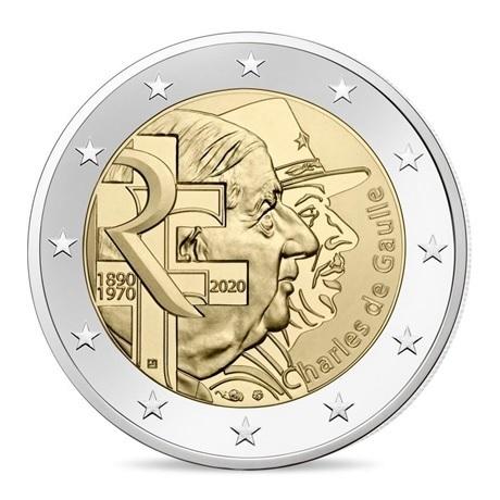 (EUR07.ComBU&BE.2020.200.BU.10041345070000) 2 euro commémorative France 2020 BU - Charles de Gaulle Avers