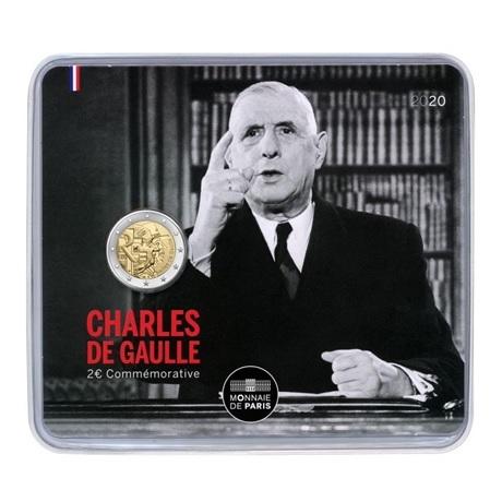 (EUR07.ComBU&BE.2020.200.BU.10041345070000) 2 euro commémorative France 2020 BU - Charles de Gaulle Recto