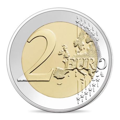 (EUR07.ComBU&BE.2020.200.BU.10041345070000) 2 euro commémorative France 2020 BU - Charles de Gaulle Revers