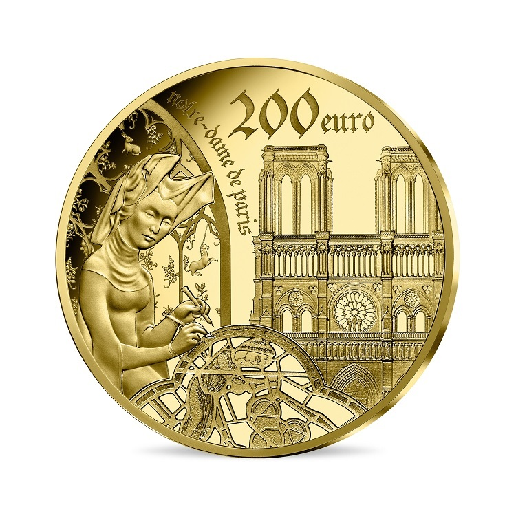 (EUR07.ComBU&BE.2020.20000.BE.10041344200000) 200 euro France 2020 Proof Au - Europa Reverse (zoom)