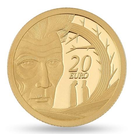 (EUR09.ComBU&BE.2006.2000.BE.1136) 20 euro Irlande 2006 or BE - Samuel Beckett Revers