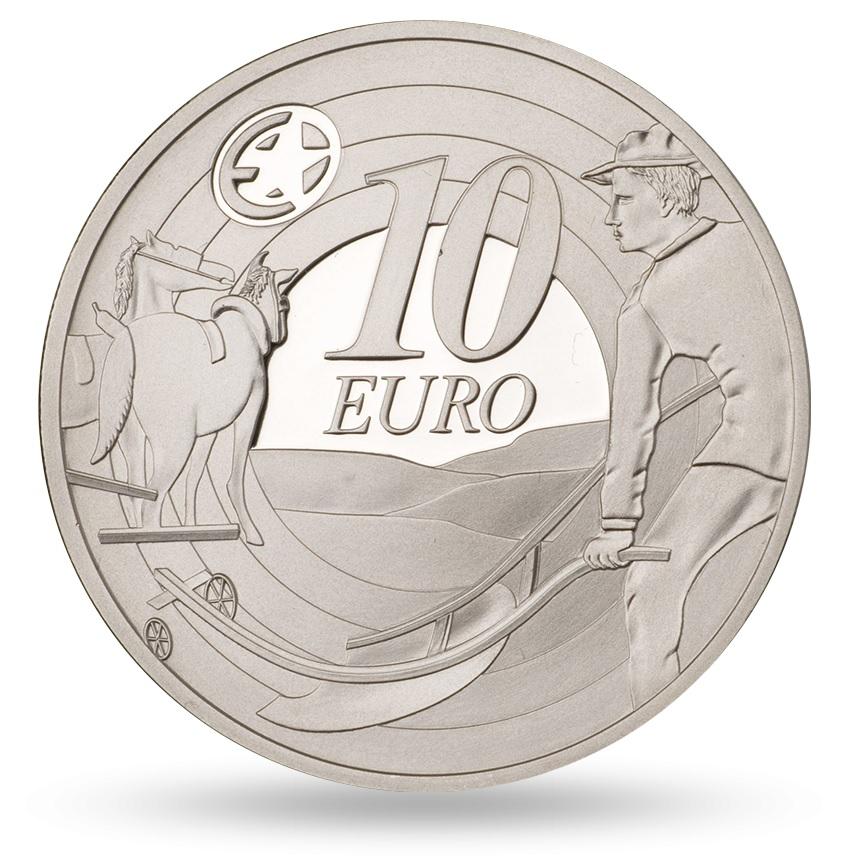 (EUR09.ComBU&BE.2009.1000.BE.1544_73) 10 euro Ireland 2009 Proof silver - Ploughman Reverse (zoom)