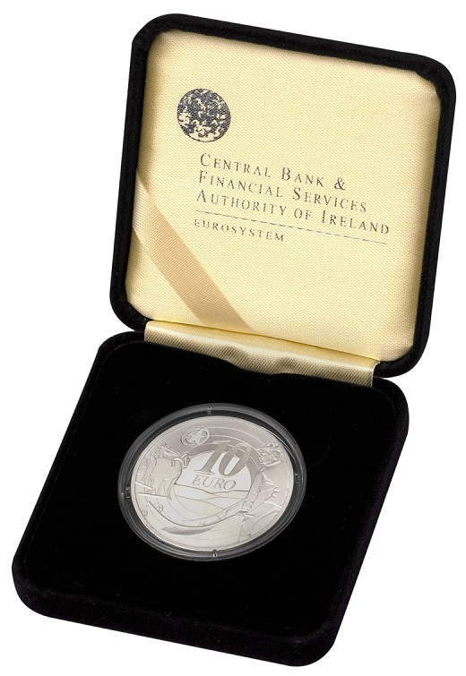(EUR09.ComBU&BE.2009.1000.BE.1544_73) 10 euro Ireland 2009 Proof silver - Ploughman (case) (zoom)
