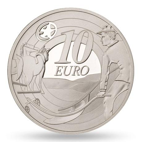 (EUR09.ComBU&BE.2009.1000.BE.1544_73) 10 euro Irlande 2009 argent BE - Laboureur Revers