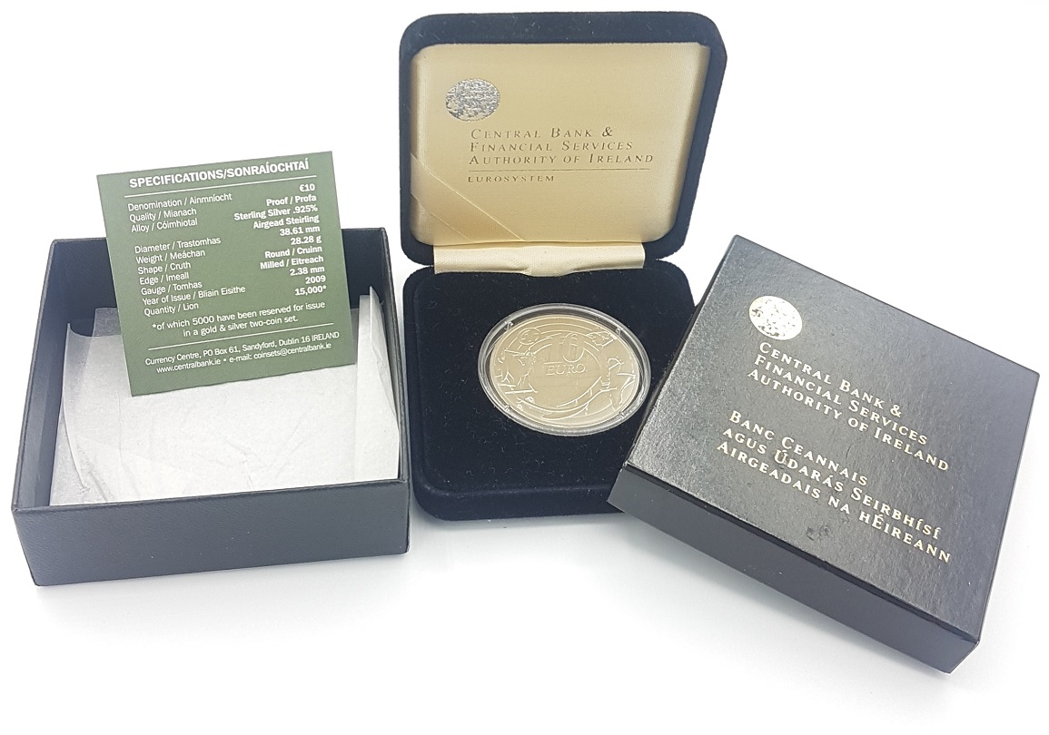 (EUR09.ComBU&BE.2009.1000.BE.1544_73.000000001) 10 euro Ireland 2009 Proof silver - Ploughman (case) (zoom)