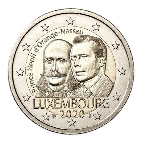 (EUR11.200.2020.COM1) 2 euro commémorative Luxembourg 2020 - Prince Henri