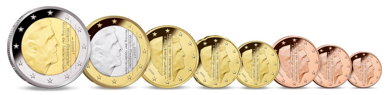 (EUR14.CofBU&FDC.2020.Cof-BU) BU coin set Netherlands 2020 (Rotterdam) (coins) (zoom)