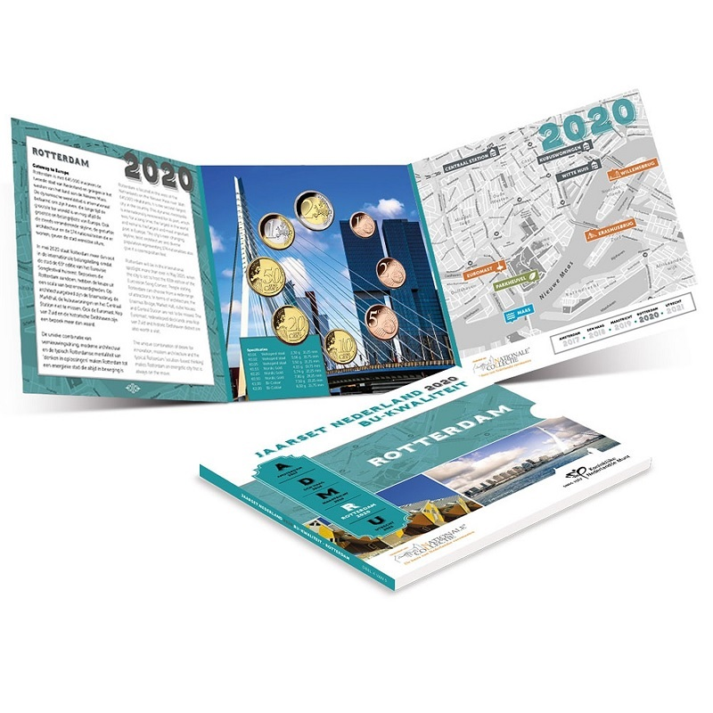 (EUR14.CofBU&FDC.2020.Cof-BU) BU coin set Netherlands 2020 (Rotterdam) (inside) (zoom)