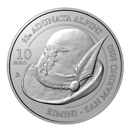 (EUR18.1000.2020.COM1) 10 euro Saint-Marin 2020 - Rencontre nationale alpine Revers