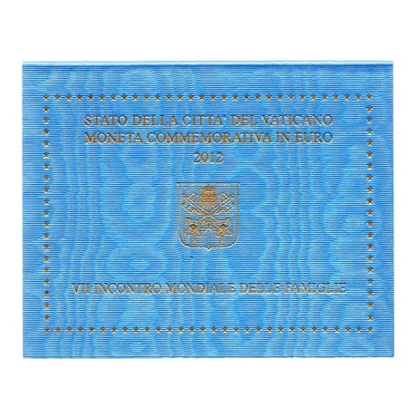(EUR19.ComBU&BE.2012.200.BU.COM1) 2 euro Vatican 2012 - Rencontre mondiale des familles Recto