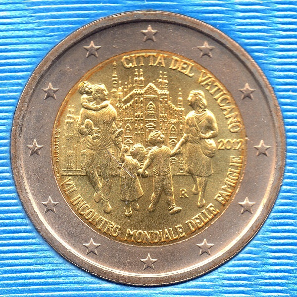 (EUR19.ComBU&BE.2012.200.BU.COM1) Vatican 2012 - World Meeting of Families Obverse (zoom)