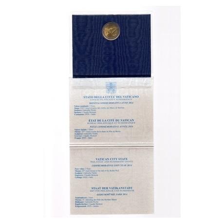 (EUR19.ComBU&BE.2014.200.BU.COM1) 2 euro Vatican 2014 BU - Mur de Berlin (revers et informations)