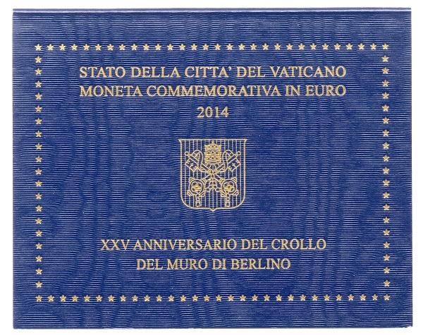(EUR19.ComBU&BE.2014.200.BU.COM1.000000002) 2 euro Vatican 2014 - Berlin Wall Front (zoom)