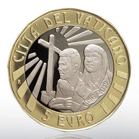 (EUR19.ComBU&BE.2019.CN1488) 5 euro Vatican 2019 BE - Journées mondiales de la Jeunesse Avers