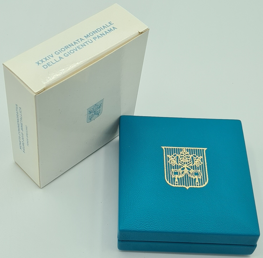 (EUR19.ComBU&BE.2019.CN1488) 5 euro Vatican 2019 Proof - World Youth Day (box) (zoom)
