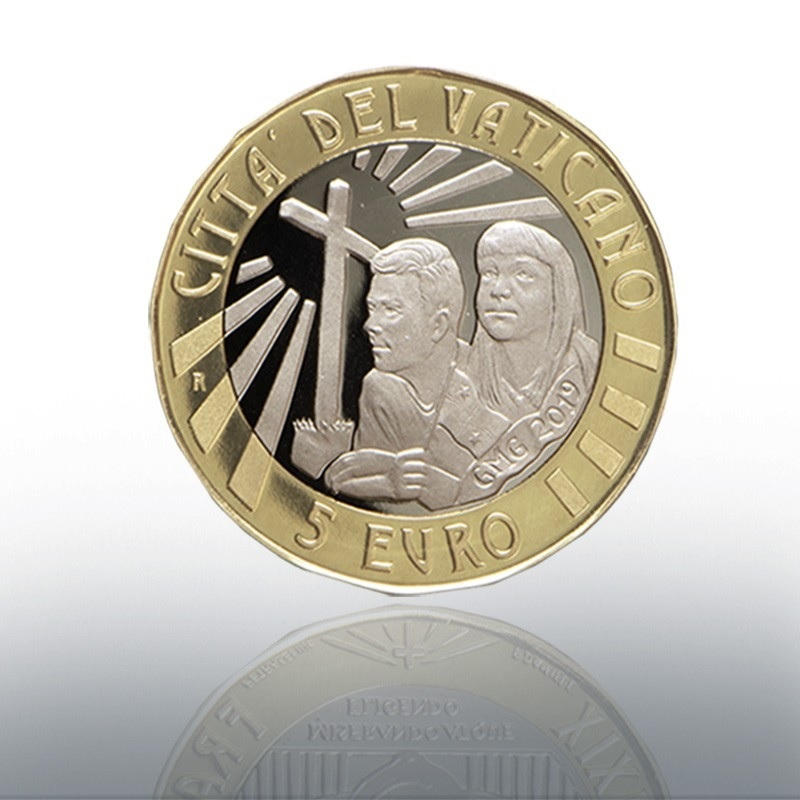 (EUR19.ComBU&BE.2019.CN1488) 5 euro Vatican 2019 Proof - World Youth Day, in Panama Obverse (zoom)