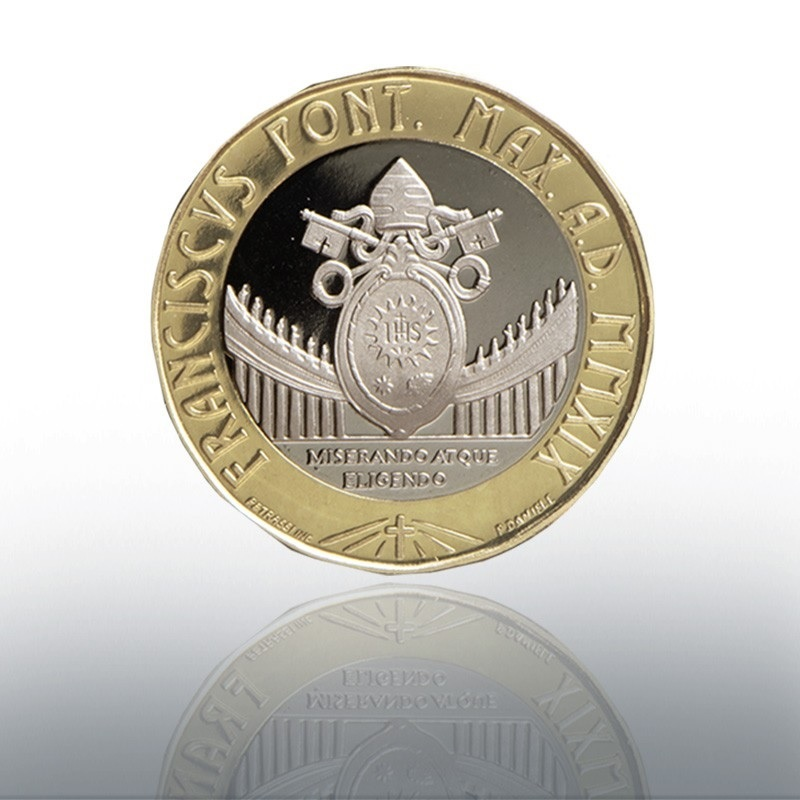 (EUR19.ComBU&BE.2019.CN1488) 5 euro Vatican 2019 Proof - World Youth Day, in Panama Reverse (zoom)