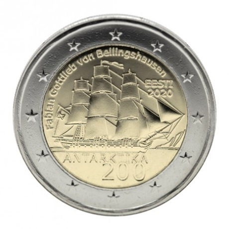 (EUR20.200.2020.COM1) 2 euro commémorative Estonie 2020 - Antarctique