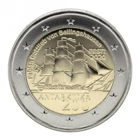 (EUR20.200.2020.COM1) 2 euro commémorative Estonie 2020 - Antarctique