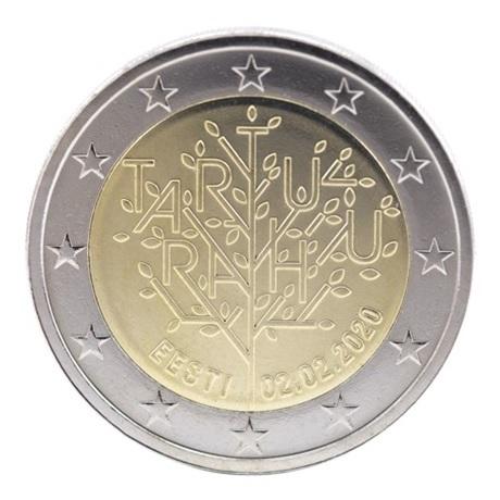 (EUR20.200.2020.COM2) 2 euro commémorative Estonie 2020 - Traité de Tartu