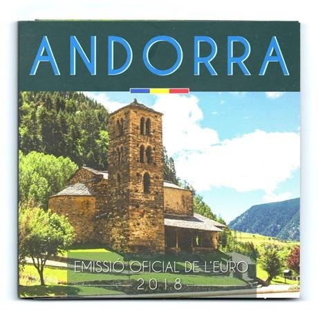 (EUR24.CofBU&FDC.2018.Cof-BU.16191) Coffret BU Andorre 2018 Recto
